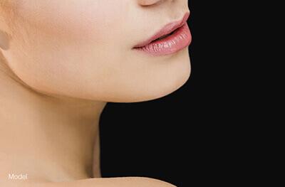 Woman's neckline