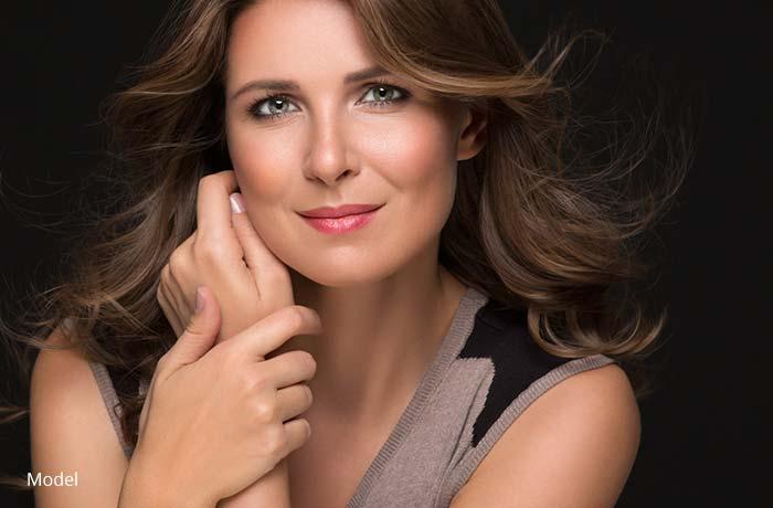 Woman's face - model