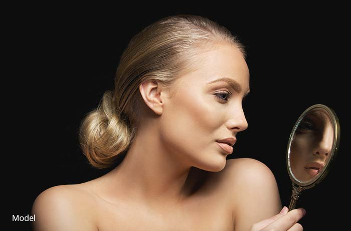 Woman's face profile